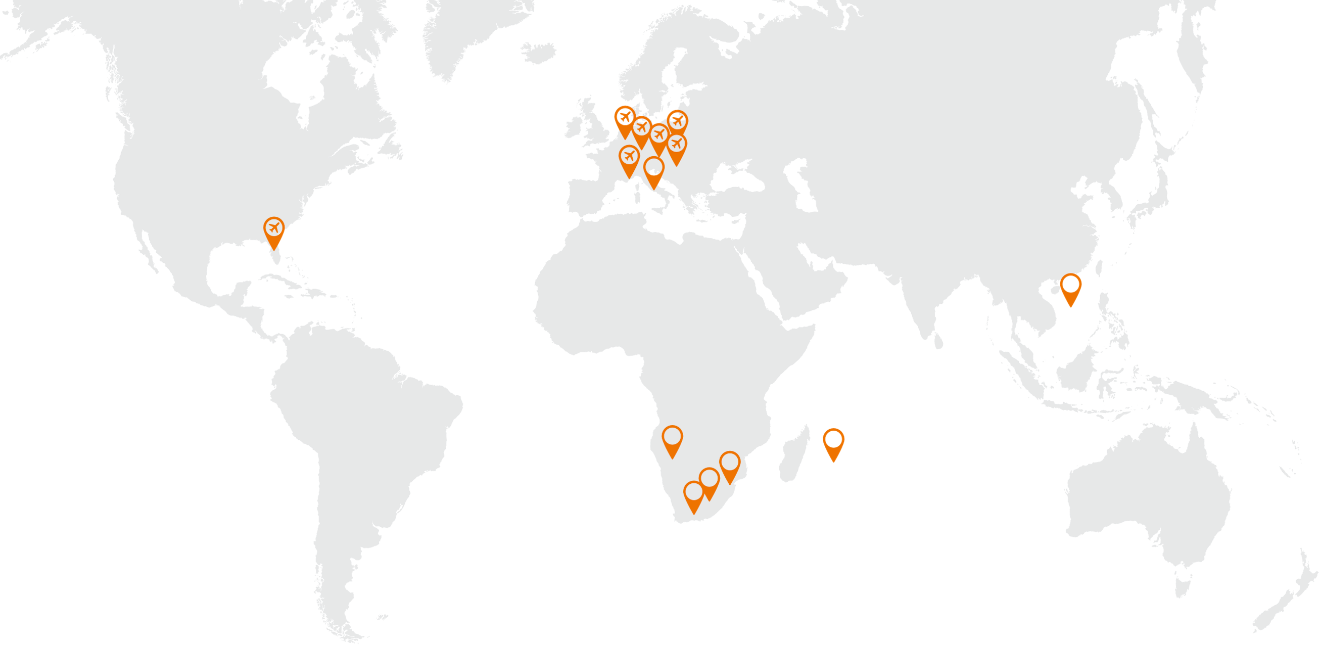 We operate in the following countries